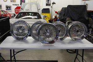 NOS Jaguar 15x6  Wire Wheels Set of 5