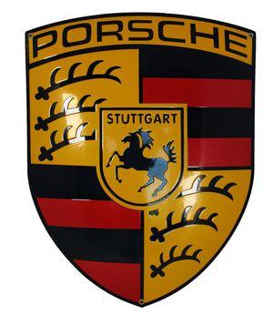 Porsche Crest Porcelain Enamel Sign
