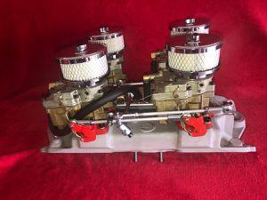 Offenhauser 4-Deuce Fuel System for SBC