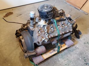 1937 Lincoln Zephyr V12 engine and transmission