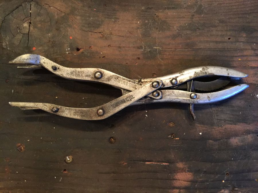 Retro Pliers Collectible Toolbox Old Garage Pliers Vintage Metal Pliers Vintage Metal Tools