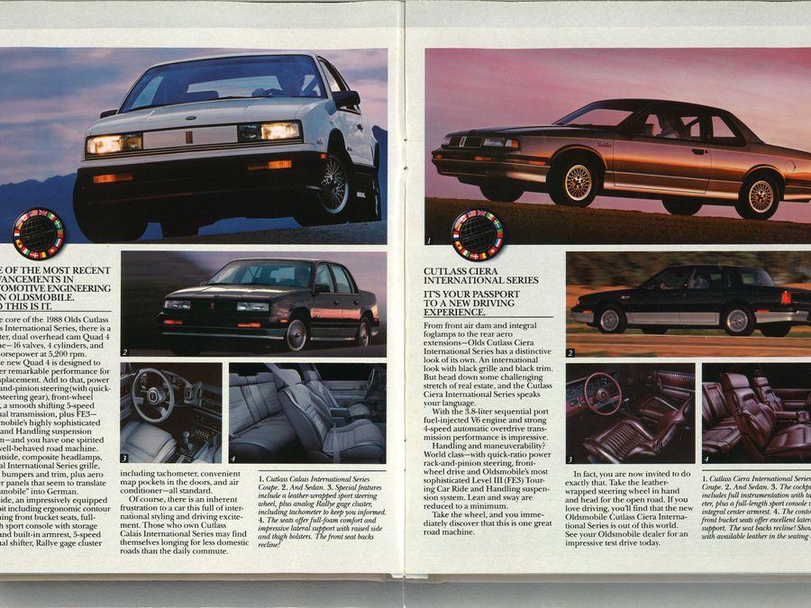 1990 Oldsmobile 60-PAGE Sales Brochure Catalog Cutlass Supreme Ciera Calais