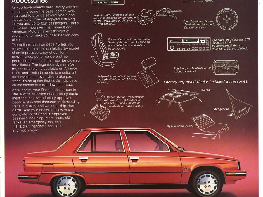 1983 Renault Fuego 18i Le Car Alliance Brochure