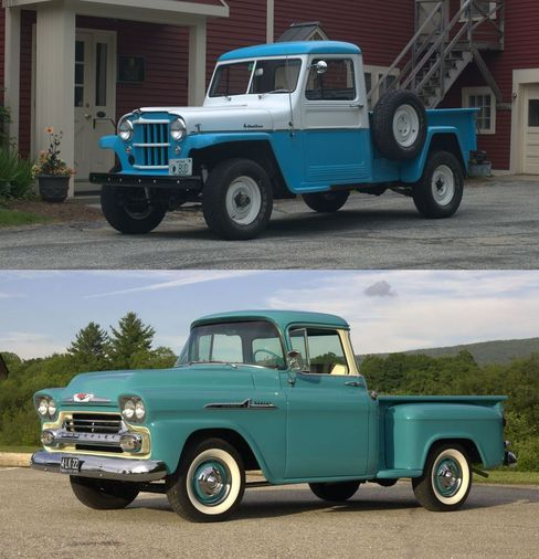 this or that season 3 1957 willys pickup or 1958 chevy apache 31 hemmings 1957 willys pickup or 1958 chevy apache