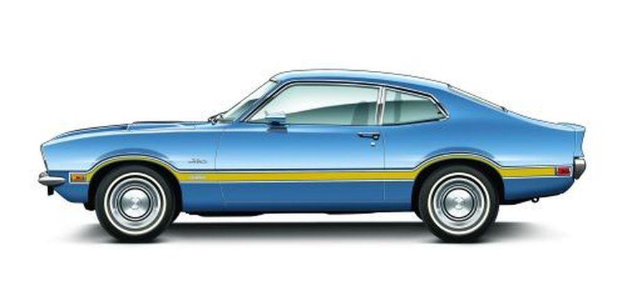 Vintage Look Reproduction 1970 Ford Maverick Grabber Metal Sign