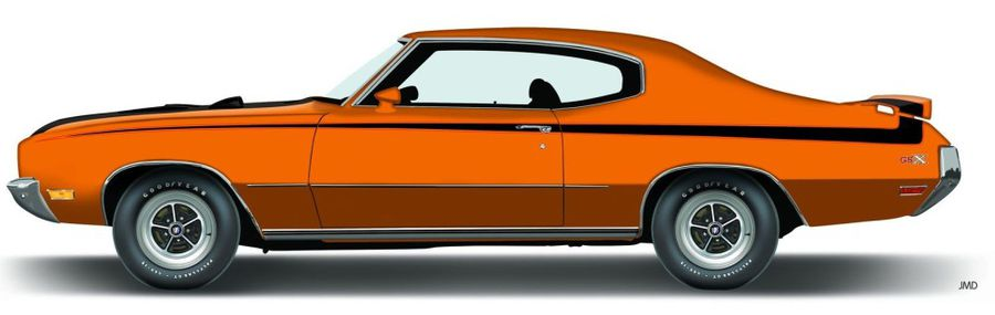 1971 Buick Skylark GSX Grille Emblem