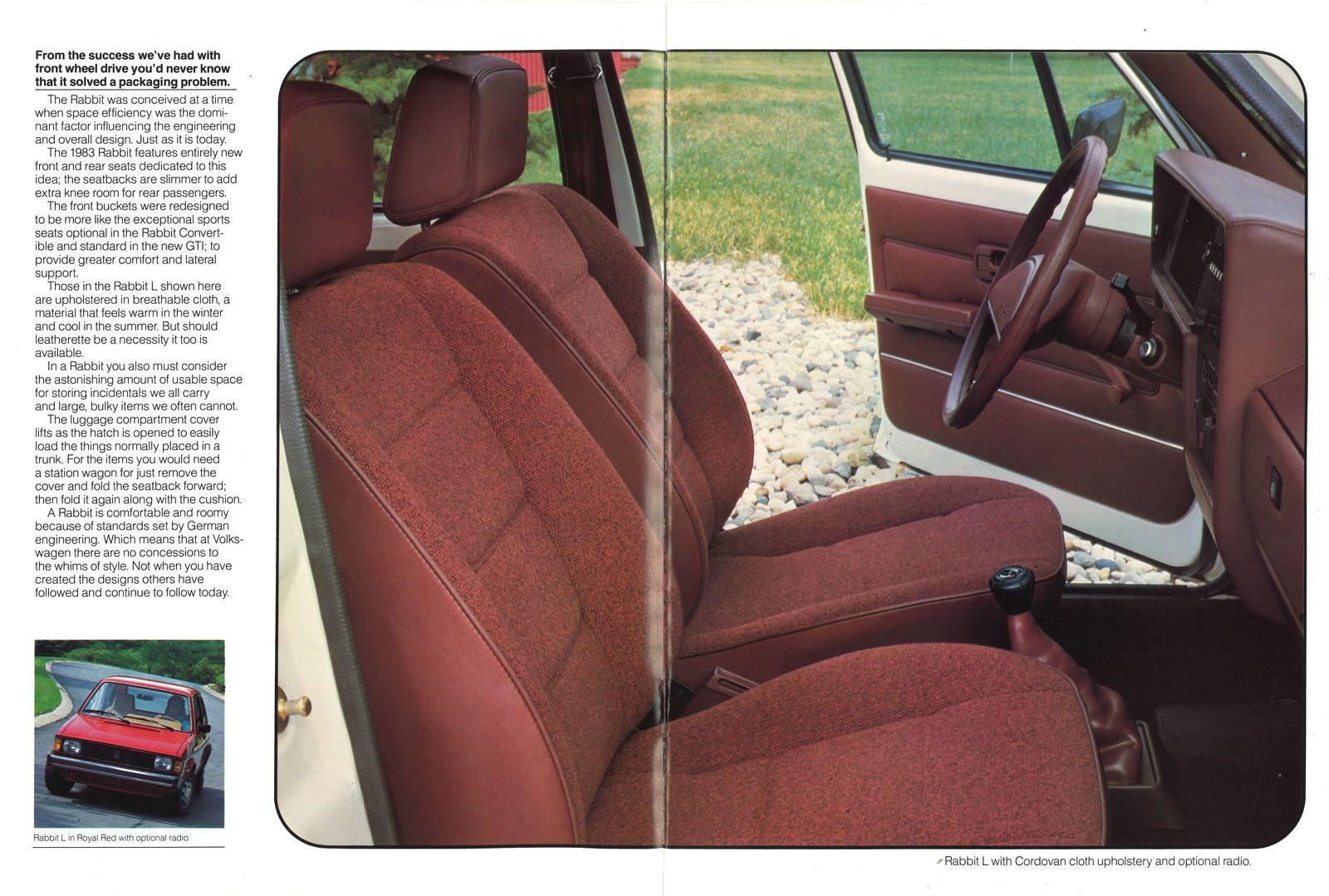 Hop To It: 1983 Volkswagen Rabbit brochure | Hemmings Daily