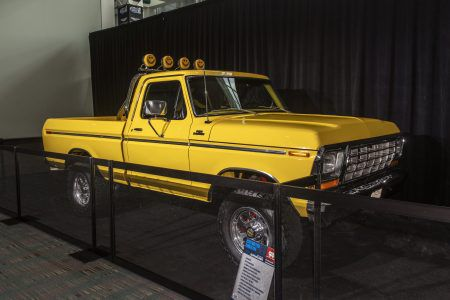 Yellow 1978 Ford F150 Ranger 4x4 KC Hilighter
