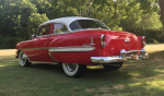 1954 Chevrolet Bel Air coupe red rear view