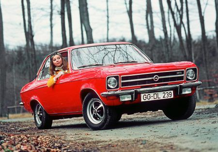 Opel Ascona in red