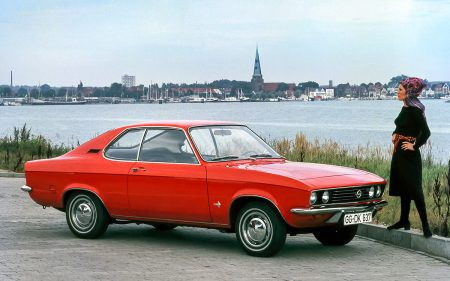 Opel Manta in red