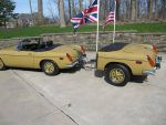 1973 MG B Custom trailer