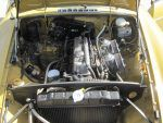 1973 MG B engine bay yello