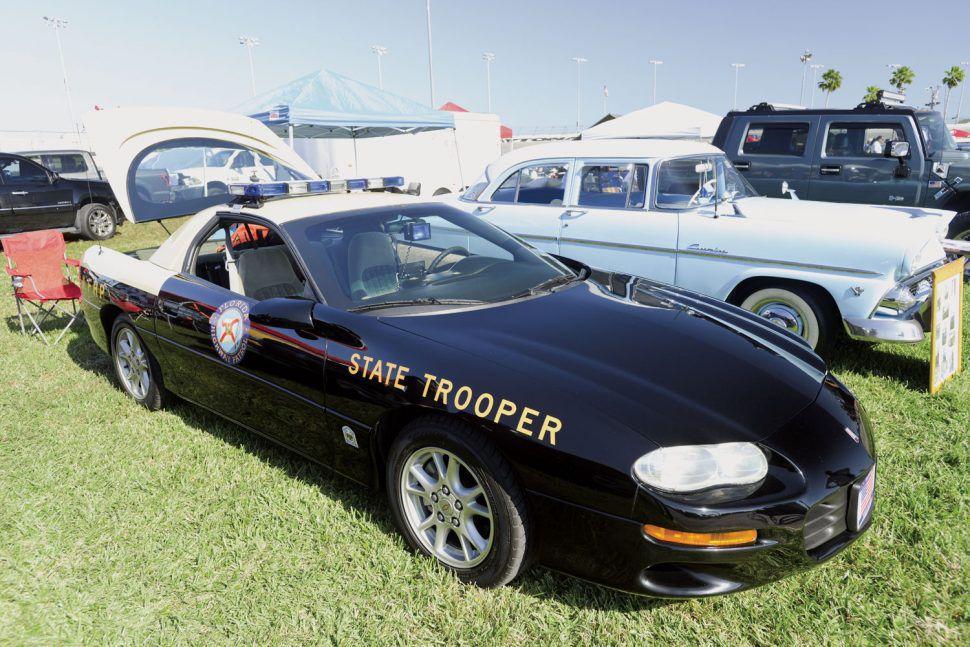 Chevrolet Camaro police pursuit state trooper turkey run 2019