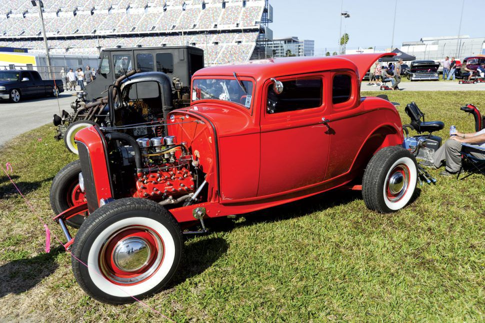 hot rod in red Turkey Run 2019
