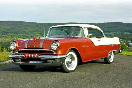 Larger than a contemporary Chevrolet, a 1955 Pontiac Star Chief Custom is a fun throwback to mid-century motoring