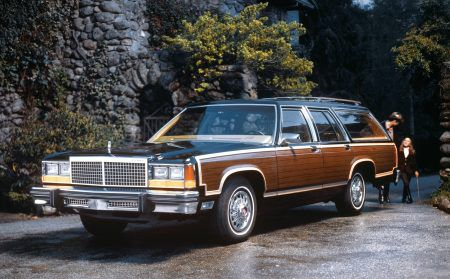 Four Big Three station wagons that were very popular in the 1980s
