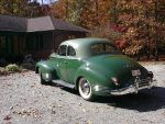 1941 Packard green rear view