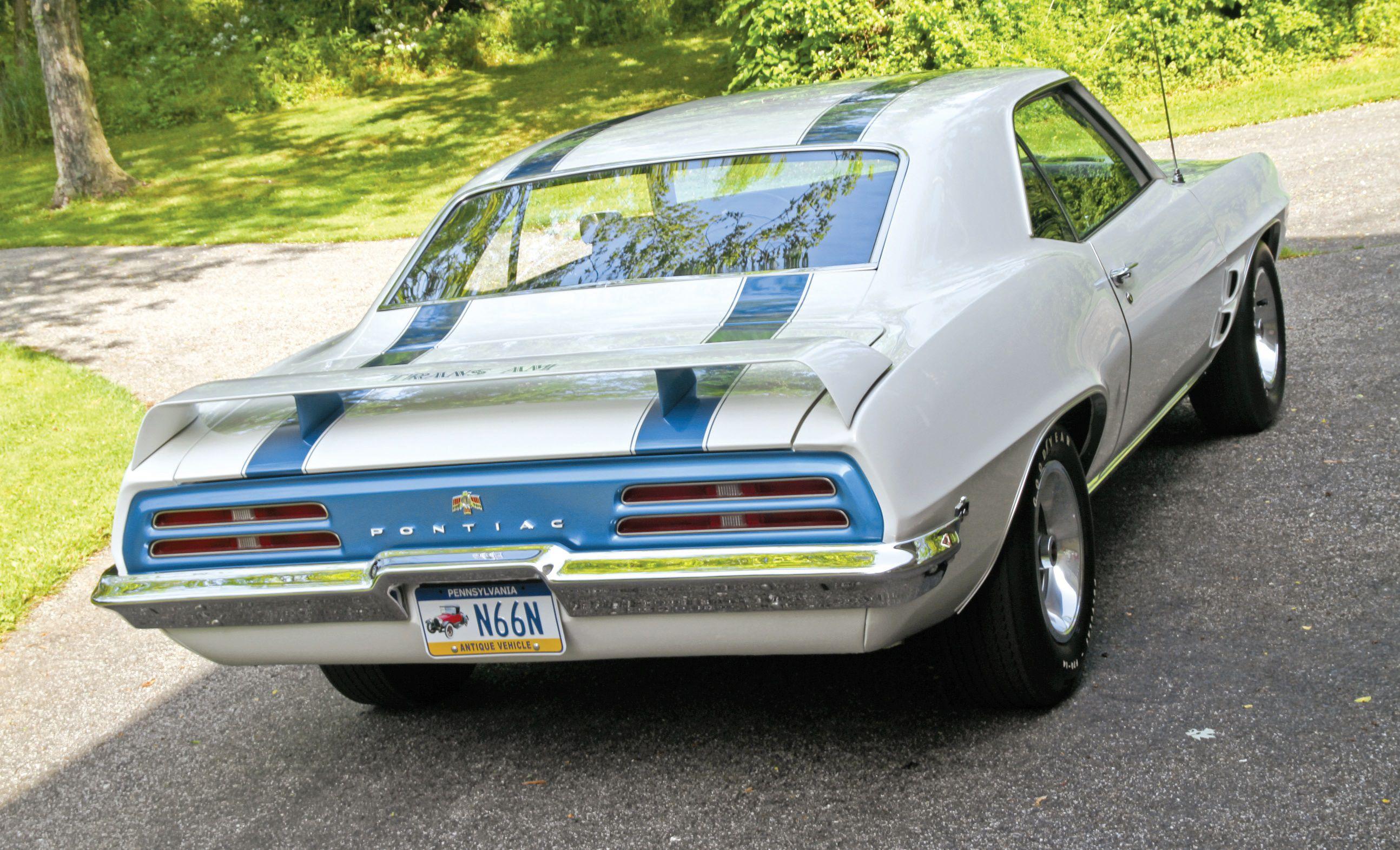 1967 1969 Pontiac Firebird Trans Am Convertible Rear Armrest Cover 4 Piece Set